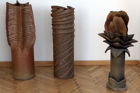 Ceramiki w przestrzeni Galerii Nowolipki.