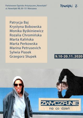 """Plakat do wystawy """"Zwyczajnie na co dzień"""". Na plakacie praca Marty Kalińskiej."""