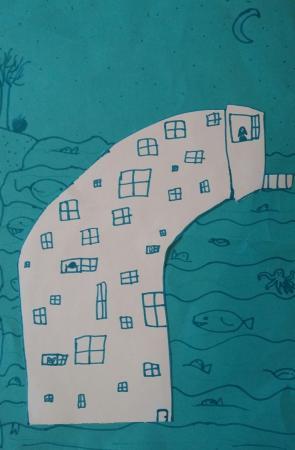 """1 Miejsce – Hanna Andrusco """"Mój wymarzony dom na jeziorze"""""""