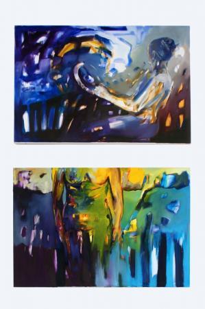 Kadr na parterze wystawy malarstwa