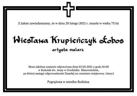 Zmarła Wiesława Łobos