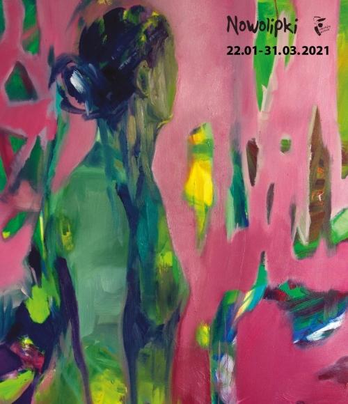 """Plakat do wystawy """"Kolor bez miary"""" Gabryelli Miłowskiej-Moląg."""