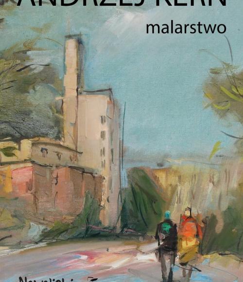 Plakat do wystawy malarstwa Andrzeja Kerna.