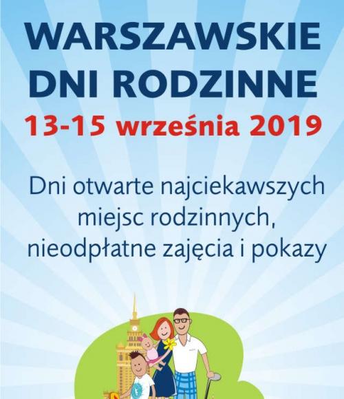 Plakat Warszawskie Dni Rodzinne