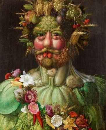 Giuseppe Arcimboldo. Portret Rudolfa II jako Vertumnusa. 1591. Skoklosters Slott, Szwecja
