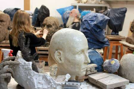 Pracownia Rzeźby. E. Sokołowska