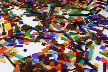 Kolorowe szkła - pracownia witrażu. Fot. E. Sokołowska