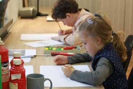 Zajęcia w pracowni Plastyki dla dzieci. Fot. E. Sokołowska